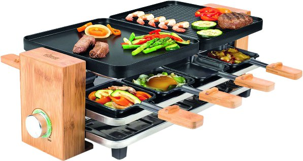 Bamboo 8 Raclettegrill