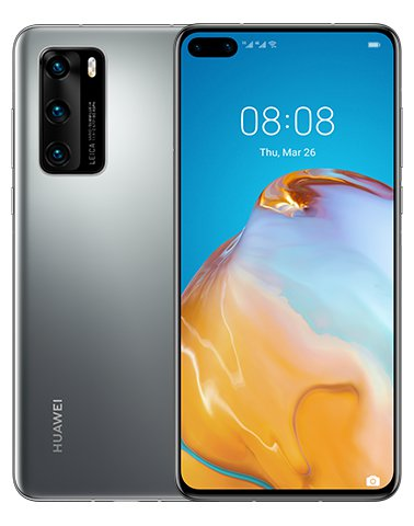 Huawei P40 5G Frost Silver-Ohne Google Services