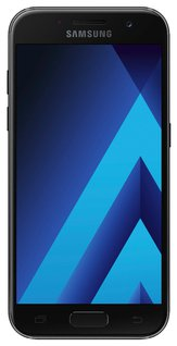 Galaxy A3 (2017) Smartphone (12,04 cm (4,7 Zoll) Touch-Display, 16 GB Speicher, Android 6.0) schwarz