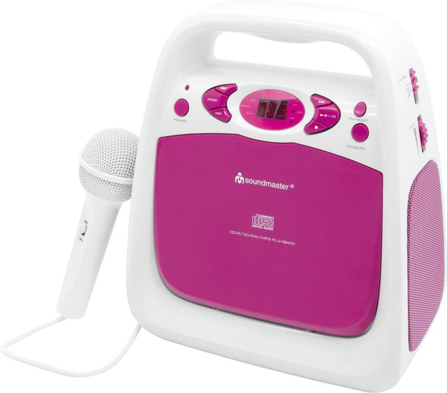 KCD50 - CD-Player Weiss/Pink
