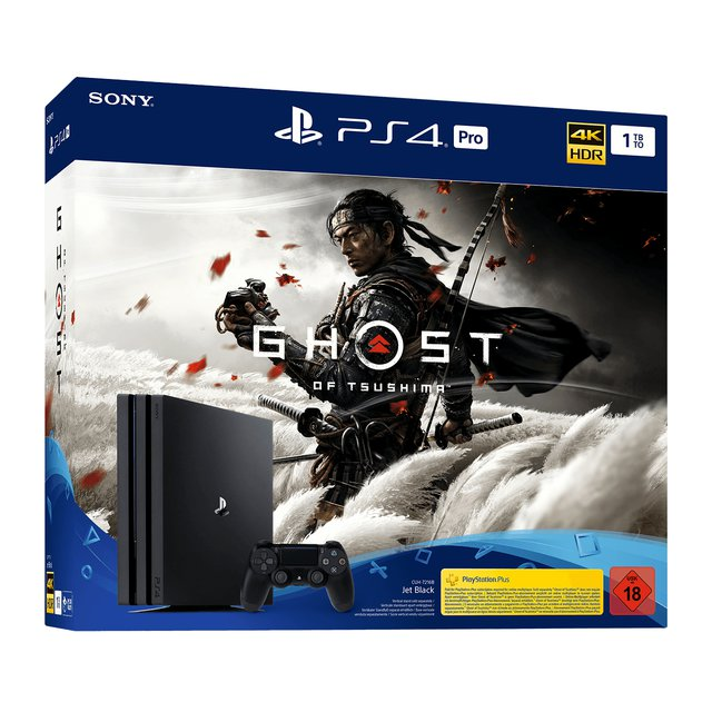 Sony Computer Entertainment PS4 1TB Pro + Ghost of Tsushima Konsole