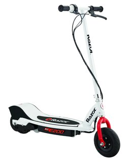 Electric Scooter E200 Weiss / Rot