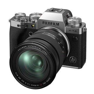 X-T4 Body + FUJINON XF16-80mm F4 R OIS WR - Systemkamera (Fotoauflösung: 26.1 MP) Silber