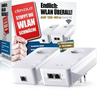 dLAN 1200 + WiFi ac Starter Kit - Powerline Adapter (Weiss)