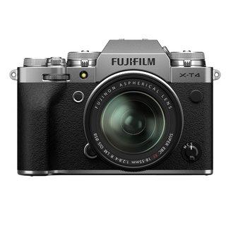 X-T4 Body + FUJINON XF18-55mm F2.8-4 R LM OIS - Systemkamera (Fotoauflösung: 26.1 MP) Silber
