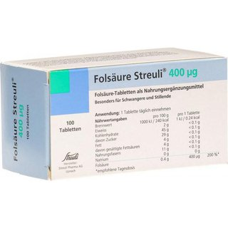 Folsäure 400 mcg, 100 Stück
